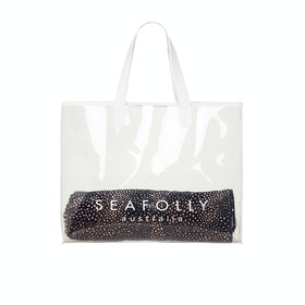 Seafolly Carriedaway Transluscent Tote Womens Beach Bag - Clear