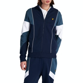 Lyle & Scott Archive Splice Funnel Neck Pullover - Navy