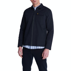 Lyle & Scott Vintage Twill Overshirt Jacke - Navy