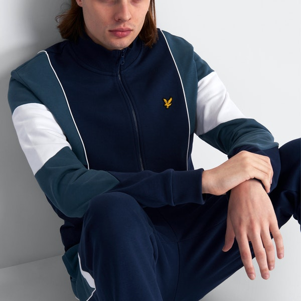Lyle & Scott Archive Splice Funnel Neck Genser