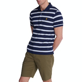 Lyle & Scott Vintage Wide Double Stripe Polo-Shirt - Navy