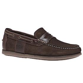Barbour Keel Boat Dress Shoes - Brown Nubuck