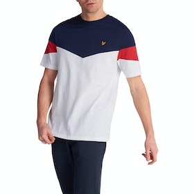 Lyle & Scott Vintage Panel Kurzarm-T-Shirt - Navy White