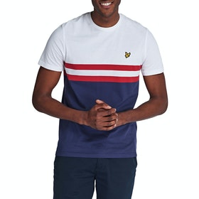 Lyle & Scott Vintage Yoke Stripe Kurzarm-T-Shirt - Navy