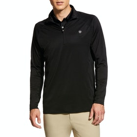 Ariat Sunstopper 1/4 Zip Funktionsunterwäsche Oberteil - Black