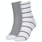 Tommy Hilfiger 2 Pack Lurex Stripe Kvinner Sokker