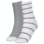 Tommy Hilfiger 2 Pack Lurex Stripe , Fashion Socks Dam