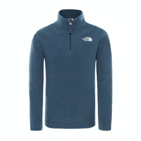 Polaire Enfant North Face Glacier Quarter Zip - Blue Wing Teal TNF White