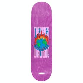 Theories Of Atlantis Worldwide 8 Inch Skateboard Deck - Pink