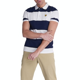 Lyle & Scott Vintage Wide Stripe Polo-Shirt - Navy