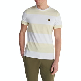 Lyle & Scott Vintage Wide Stripe Kurzarm-T-Shirt - Buttercream