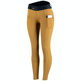 Horze Abrielle Silicone Full Seat Ladies Riding Breeches - Bronze