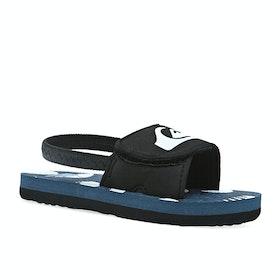 Quiksilver Molokai Layback Kids Sliders - Black Blue White