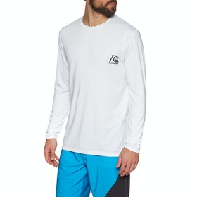 Surf T-Shirt Quiksilver Heritage Long Sleeve - White