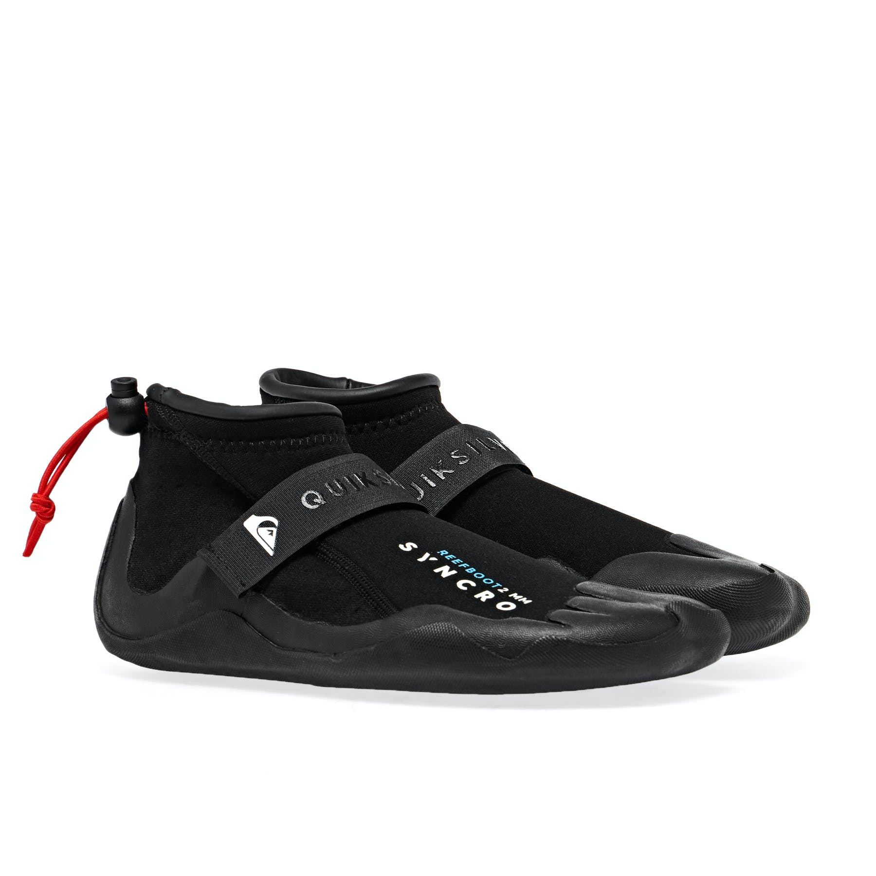 Quiksilver Syncro 2m Round Toe Mens Surf Gear Wetsuit Boots Black All Sizes