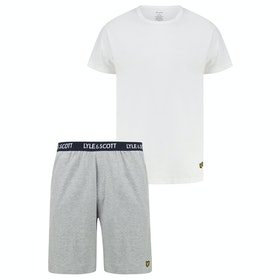 Lyle & Scott Charlie Shorts and Kleidung zum Relaxen - Grey Marl Bright White