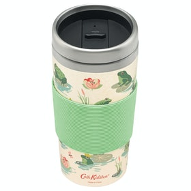 Cath Kidston Bamboo Travel Women's Mug - Warm Cream