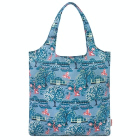 Cath Kidston Foldaway Damen Einkaufstasche - Blue