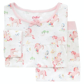 Cath Kidston Long Sleeve Jersey Kid's Pyjamas - Oyster Shell