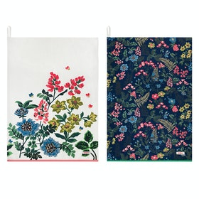 Cath Kidston Set Of Two Teatowel - Navy