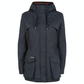 Troy London Wax Parka Women's Jacket - Navy Orange