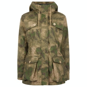 Troy London Wax Parka Womens Bunda - Camo