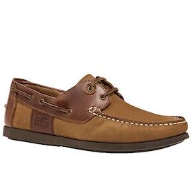 Barbour Capstan Dress Shoes - Cognac/dk Brown