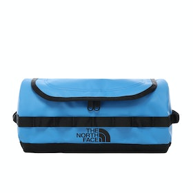 North Face Base Camp Travel Canister Large Wash Bag - Clear Lake Blue TNF Black