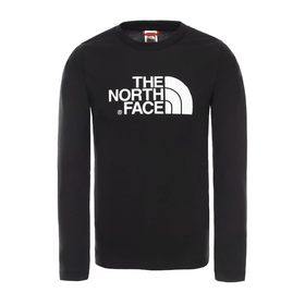 North Face Easy Kids Long Sleeve T-Shirt - TNF Black TNF White