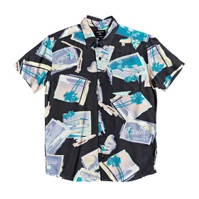 Quiksilver Vacancy Boys Short Sleeve Shirt - Black Vacancy Youth