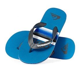Quiksilver Molokai Slab Boys Sandals - Grey Blue Blue