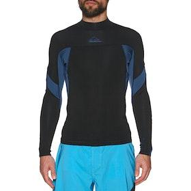 Quiksilver 1mm Syncro Long Sleeve Wetsuit Jacket - Black Black Iodine Blue Iodine
