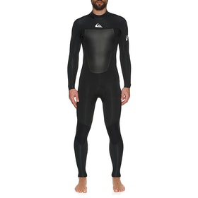 Quiksilver 4/3mm Syncro Back Zip Wetsuit - Black White