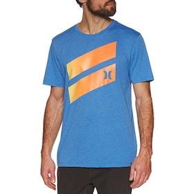 T-Shirt à Manche Courte Hurley Icon Slash Gradient - Soar Htr