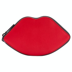 Lulu Guinness Lips And Heart Stripe Foldaway Women's Shopper Bag - Blossom Multi