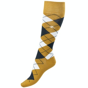 Horze Alana Checked Summer Socks - Bronze Dark Blue