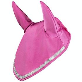Horze Finley Ear Net Fly Veil - Shocking Pink
