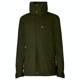 Troy London Parka Men's Wax Jacket - Green
