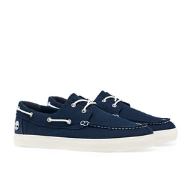 Dress Shoes Мужчины Timberland Newport Bay Union Wharf 2 Eye Boat - Black Iris Canvas