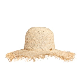Chapeau Femme Seafolly Shadylady Fringed Beach - Natural