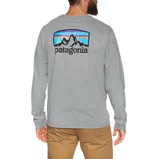 T-Shirt LS Patagonia Fitz Roy Horizons Responsibilitee