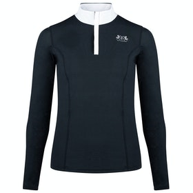 B Vertigo Iris Long Sleeve Damen Turnier-Shirt - Black