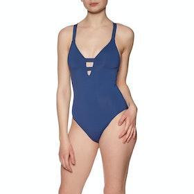 Seafolly Active Deep Womens Swimsuit - Blue Opal