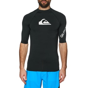 Quiksilver All Time Short Sleeve Rash Vest - Black