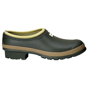 Hunter Mens Gardener Clog Wellingtons - Dark Olive/clay