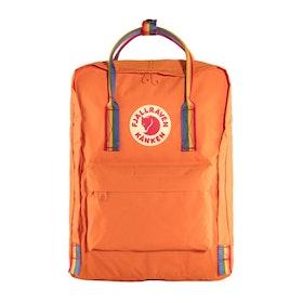Fjallraven Kånken Rainbow Backpack - Burnt Orange Rainbow Pattern