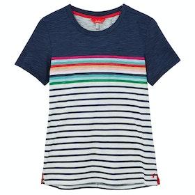 Joules Carley Ladies Top - Blue Border Stripe