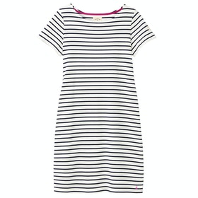 Joules Riviera Long Jurk - Cream Navy Stripe