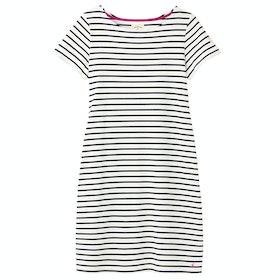 Joules Riviera Long Dress - Cream Navy Stripe