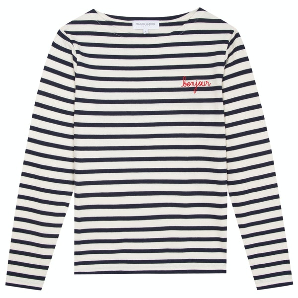 Maison Labiche Sailor Shirt Bonjour Dames T-Shirt Lange Mouwen